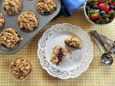 Nut Butter, Banana and Jam Muffins (gluten-free, dairy-free, egg-free)