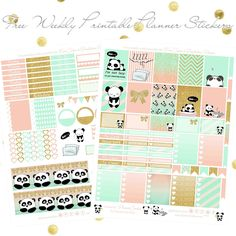 Free Printable Lazy Panda Planner Stickers from Planner Onelove