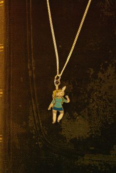 Adventure Time Fiona silver necklace by Keepings on Etsy