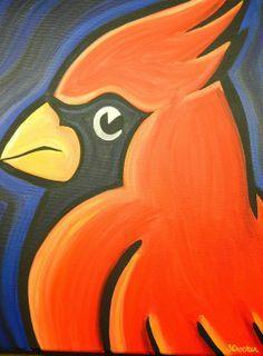 St Louis Cardinals painting sports art baseball