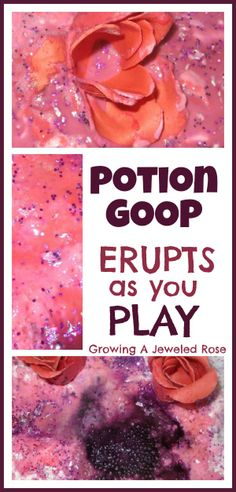 Bath Activities for Kids: Love Potions Lab- Part 2.  Erupting Goop!  The kids loved this and next time we will for SURE be doing it in the bath for mess containment instead of on the kitchen floor!  :-)