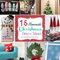 Love making your own Christmas decorations? There is still time to craft and make items until Christmas arrives, here are 10 festive Christmas decoration ideas for you to get inspiration from! It will brighten up your home with holiday season in a unique way and keep your little one busy for hours! #ChristmashomeDecroIdeas #ChristmasCraftforKids #TickledMummyClub