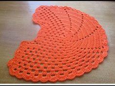tapete vaso sanitario croche laranja jogo banheiro