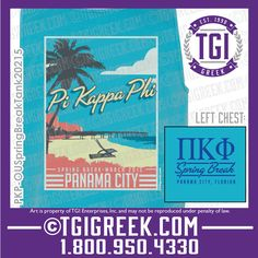TGI Greek - Pi Kappa Phi - Spring Break - Comfort Colors - Tanks - Greek T-shirts #tgigreek #pikappaphi #springbreak