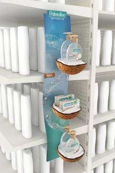 Palmolive Retail by Daniela Olivares, via Behance Pos Display, Display Design, Display Shelves, Store Design, Product Display, Point Of Sale, Point Of Purchase, Pos Design, Retail Design
