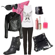 The biker babe in me......love EVERYTHING about this outfit!