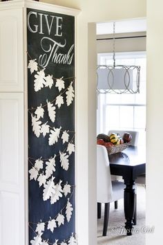 Thanksgiving Garland with personalized Gratitude Leaves