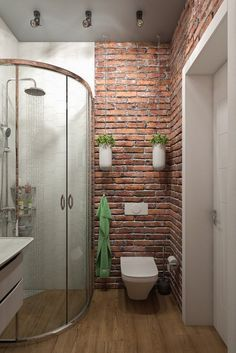 small bathroom storage ideas is definitely important for your home. Whether you pick the remodeling bathroom ideas diy or bathroom remodel wainscotting, you will make the best bathroom remodel wainscotting for your own life. Brick Tiles Bathroom, Bathroom Tile Designs, Bathroom Design Luxury, Bathroom Design Small, Bathroom Renos, Bathroom Furniture, Bathroom Interior, Modern Bathroom, Bathroom Ideas