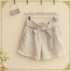 Buy 'Fairyland – Lace-Trim Dotted Shorts' with Free International Shipping at YesStyle.com. Browse and shop for thousands of Asian fashion items from China and more!