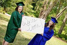 Best Friend Graduation / Senior / Teen Photography Pose | Jennifer Collins Photography • Florence SC
