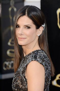 Sandra Bullock at the Oscars. See all the red-carpet beauty looks when you click.