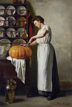 View Carving the pumpkin by Franck Antoine Bail on artnet. Browse upcoming and past auction lots by Franck Antoine Bail. Halloween Pumpkins, Fall Halloween, Halloween Decorations, Vintage Thanksgiving, Pumpkin Oil, Pumpkin Carving, Pumpkin Canvas, Mary Cassatt, Fine Art