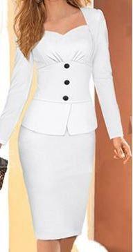 Women Houndstooth Dress Suit