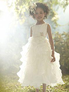 Jasmine flower girl dress.  alfred angelo.