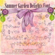 Summer Garden Delights Font: Personal Use Version