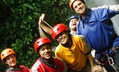 ¡Hacé un tour de canyoning y canopy por sólo ¢19,160 en Explornatura! Incluye rapel, puente colgante, pared de escalar y más... | Yuplon