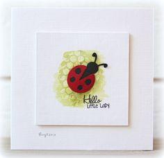 clean & simple card by Birgit..... I love ladybug's!