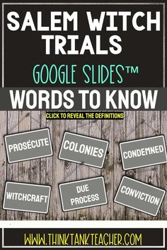 Try something new with this Digital Salem Witch Trials Interactive Google Slides Presentation ™ with self-checking questions! You can EASILY download the Google Slides™ as a PowerPoint if that platform works better for you! (directions inside) Perfect reading comprehension activity for distance learning!Topics include: Salem Witch Trials, Massachusetts Bay Colony, 13 Colonies #SalemWitchTrials #USHistory #HomeSchool #Digital #4thgrade #5thgrade #6thgrade #MiddleSchool #UpperElementary