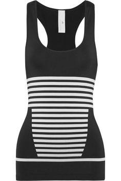 Adidas by Stella McCartney|Striped stretch-jersey tank|NET-A-PORTER.COM