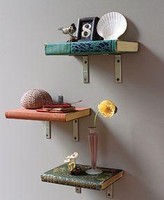 Pessoal, essa não é uma idéia para organizar os meus livros... Mas achei bem interessante... Acredito que seja possível executá-la sem estragar os livros... Gostaram?!?!