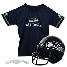 Franklin Sports NFL Seattle Seahawks Replica Youth Helmet and Jersey Set * See this great product.Note:It is affiliate link to Amazon.