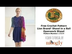 Learn to crochet! Make this stunning openwork shawl with just one skein of Shawl in a Ball - follow along with Moogly's easy to follow video tutorial!