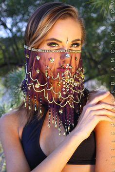 Gypsy Purple Face Veil