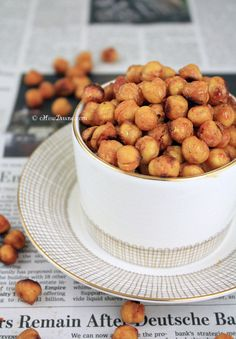 Roasted Sweet & Spicy Chickpeas | cHowDivine.com {Satisfy sweet, spicy, and salty cravings all at once. Easy to make, tasty, and healthy.}
