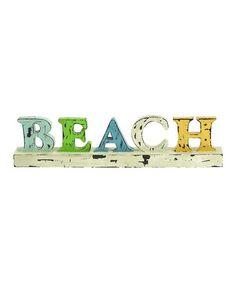 Another great find on #zulily! Weathered 'Beach' Decoration #zulilyfinds