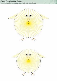 Easter Chick Stitching Pattern on Craftsuprint designed by Sarah Edwards - Easter Chick Stitching Pattern - Now available for download!