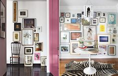 If you're still unsure about building your own art gallery wall, here are plenty more examples to help inspire you. Lots of you have been asking how I put the gallery wall together in my son's room. Hallway Colours, Funky Decor, Decorating With Pictures, Dream Rooms, Home Decor Inspiration, Living Room Decor, Wall Decor, Wall Art, Interior Design