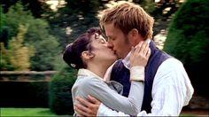 The kiss... <3 Sally Hawkins (Anne Elliot) & Rupert Penry-Jones (Captain Frederick Wentworth) - Persuasion directed by Adrian Shergold (TV Movie, 2007) #janeausten