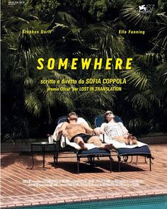To know more about Sofia Coppola somewhere, visit Sumally, a social network that gathers together all the wanted things in the world! Featuring over 82 other Sofia Coppola items too! Sofia Coppola, Elle Fanning, Graphic Design Posters, Graphic Design Inspiration, Film Poster Design, Poster Art, Title Card, Lost, Alternative Movie Posters