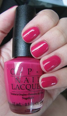 OPI Koala Bear-y - rich magenta berry creme nails (nail polish / lacquer)