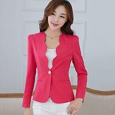 f3f8d0cce20 Women s Sexy Work Medium Long Sleeve Regular Blazer (Cotton Spandex) 2016 -   22.99 Modelos