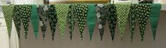 Custom St. Patrick's Day Fireplace Mantle Scarf from SheSewsFine2.