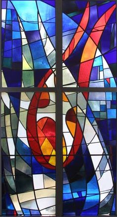 Stained Glass impression of the Holy Spirit