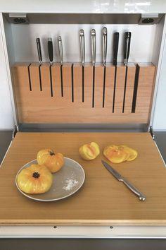 Cuisine en bois contemporaine à Nice - Côté Maison