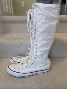 New Women New Converse Sneaker Knee High Sneaker Boots RARE Find | eBay