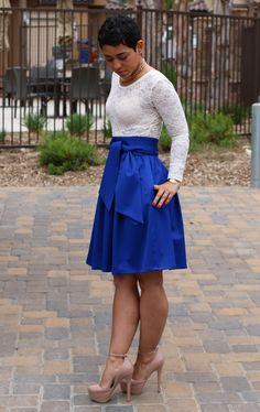 DIY Regal Skirt + Lace Bodysuit - Mimi G Style