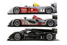 Audi LeMans Racer - Top - R10, Middle - R15, Bottom - R18
