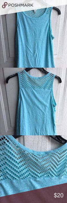 Aeropostale NYC crocheted Top S In gently used condition top no rips or stains designed in NYC Top Aeropostale Tops Tank Tops