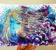 Mariel Lazo-Duran   Abstract with acrylic ink, paint pen, copic pen, and uniball pen on multimedia paper