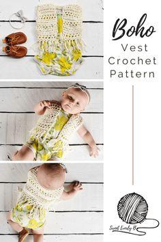 baby crochet vest pattern, crochet fringe vest pattern, free baby crochet patterns for beginners, infant boho vest crochet pattern
