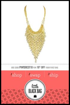 Robert Rose Chain Fringe Necklace from LittleBlackBag.com  ::Gold:: Necklace:: Chain fringe