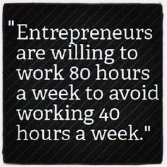 entrepreneurs are willing to work 80 hours a week - Google Search