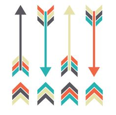 Tribal Arrow Clipart by DaisyBooDesignStudio on Etsy