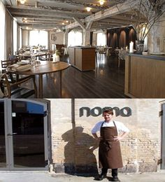 """#1 Restaurant in the World (2010, 2011, 2012) - Noma in Copenhagen, Denmark.  Chef René Redzepi cooks mordern Nordic food.  In Danish, Noma =  """"nordisk"""" (Nordic) and """"mad"""" (food).  Located in an old warehouse on the waterfront in the Christianshavn, central Copenhagen."""