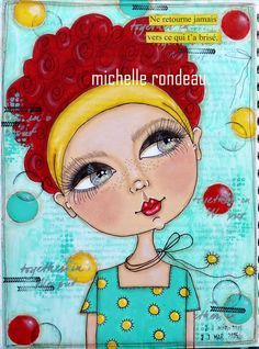 Wood And Fabric: Mon art journal...