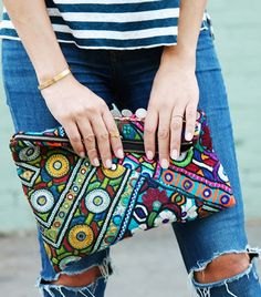 Colorful Ethnic Clutch